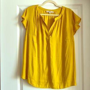 LOFT Plus Yellow Blouse